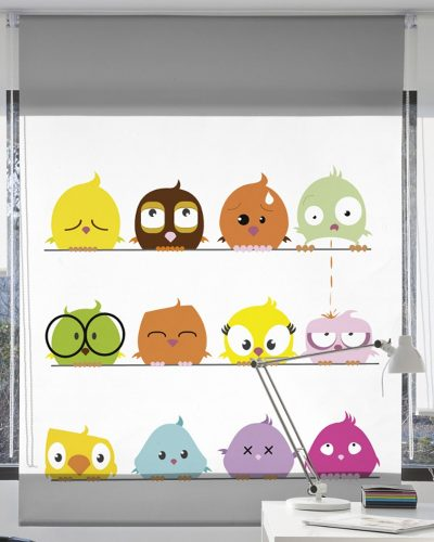 Cortinas Infantiles Baby Aves
